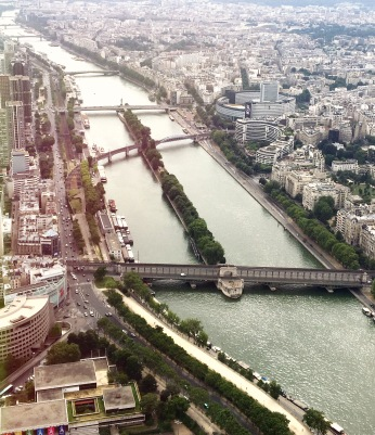 Beautiful River view from the top of Eiffel Tower