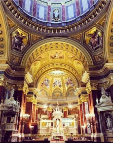 Inside St. Stephens Basilica Church